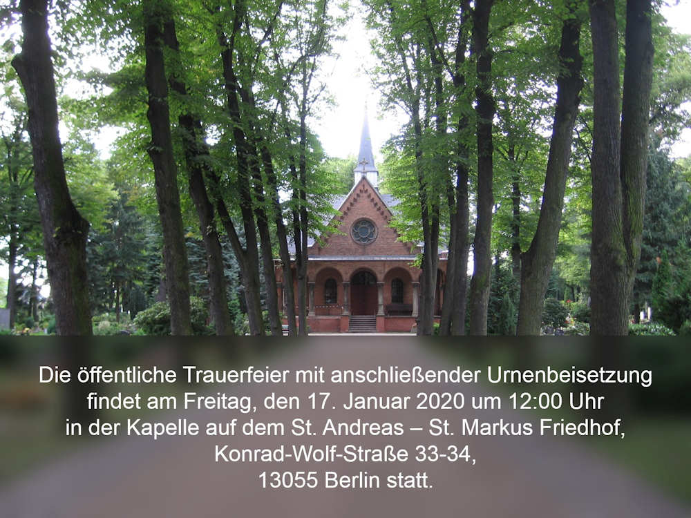 Beisetzung Marcus Schloussen Berlin